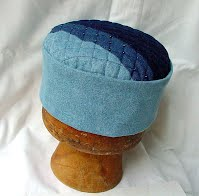 Men's rustic patchwork denim lounge hat